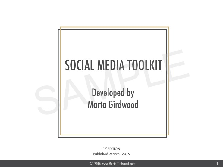 social media, social media toolkit by marta girdwood